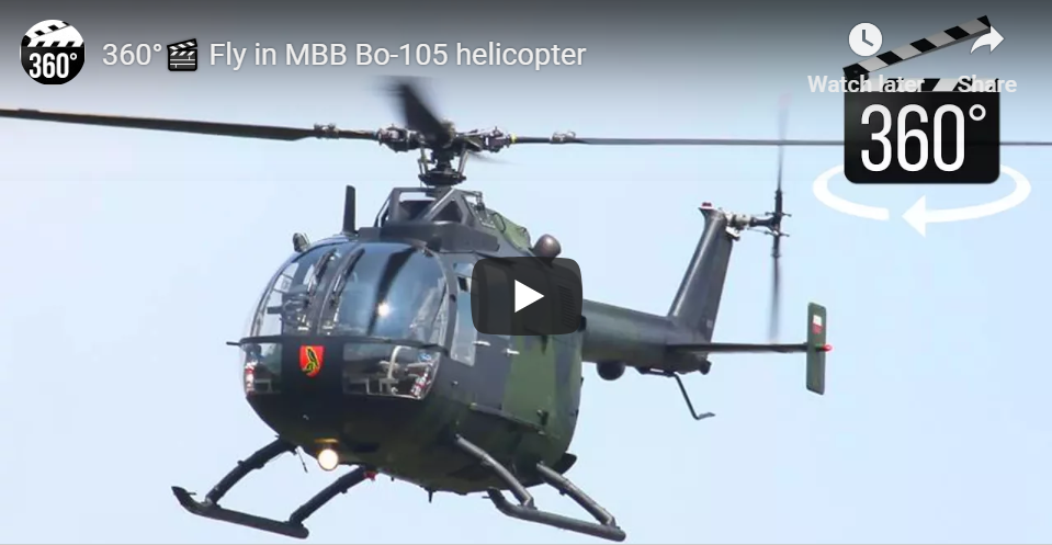 Fly in MBB Bo-105 Helicopter